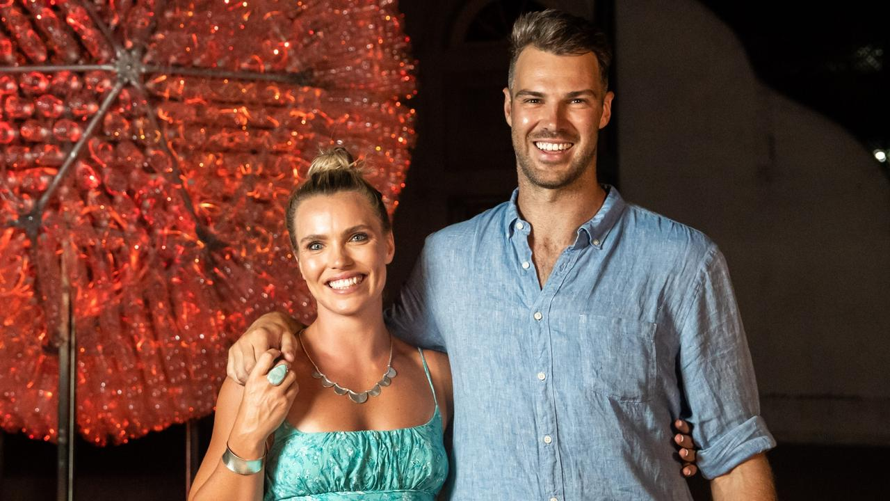 Abbey Holmes engaged to Keegan Brooksby near Uluru in the NT.