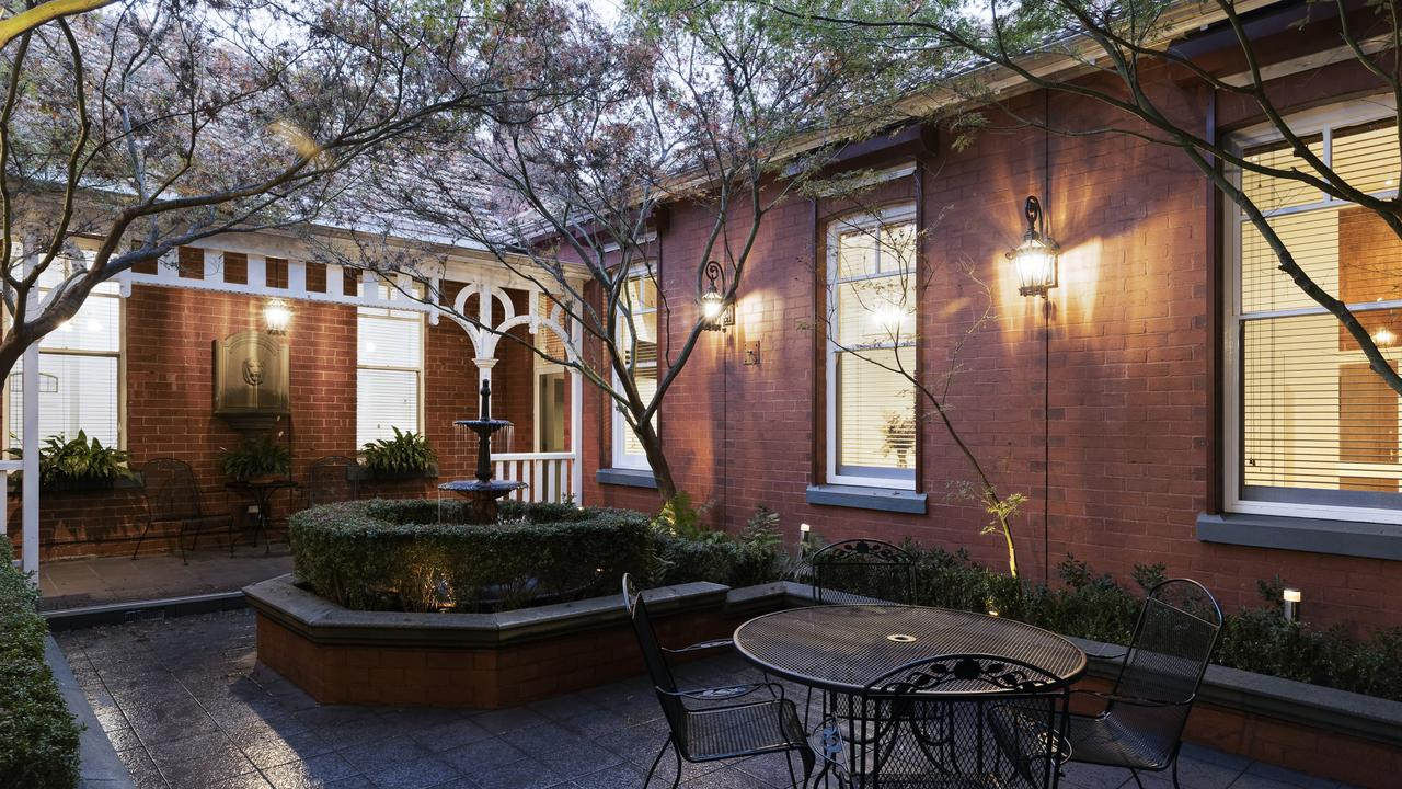Sit and enjoy the peace and quiet from the courtyard.