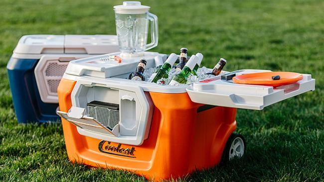 The Coolest Cooler packs a blender, charger, speaker, bottle opener and picnic set in a single design.