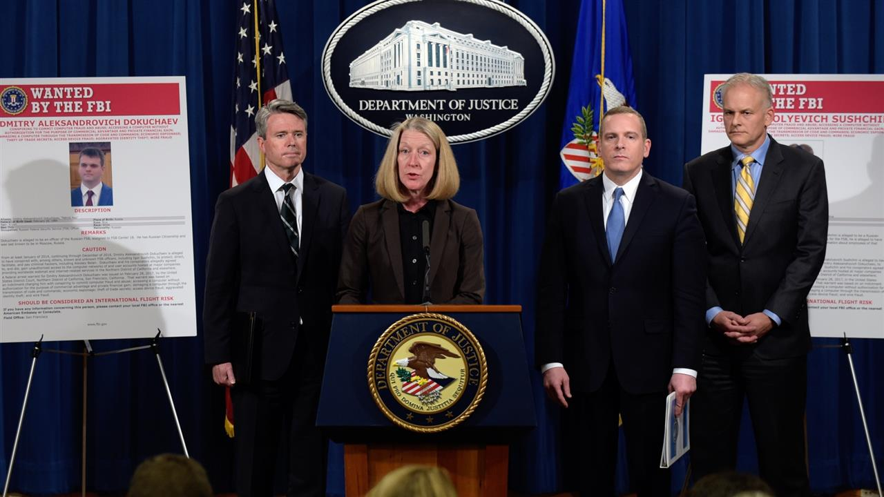 Russian Spies Charged in Yahoo Hack That Targeted U.S. and Russian Officials
