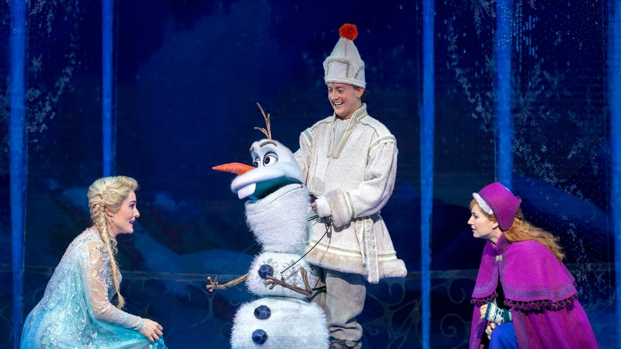 There are hopes audiences will soon be able to return to watch Frozen the musical. Picture: Lisa Tomasetti