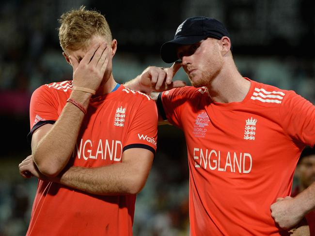 Joe Root and Ben Stokes can't believe what happened.
