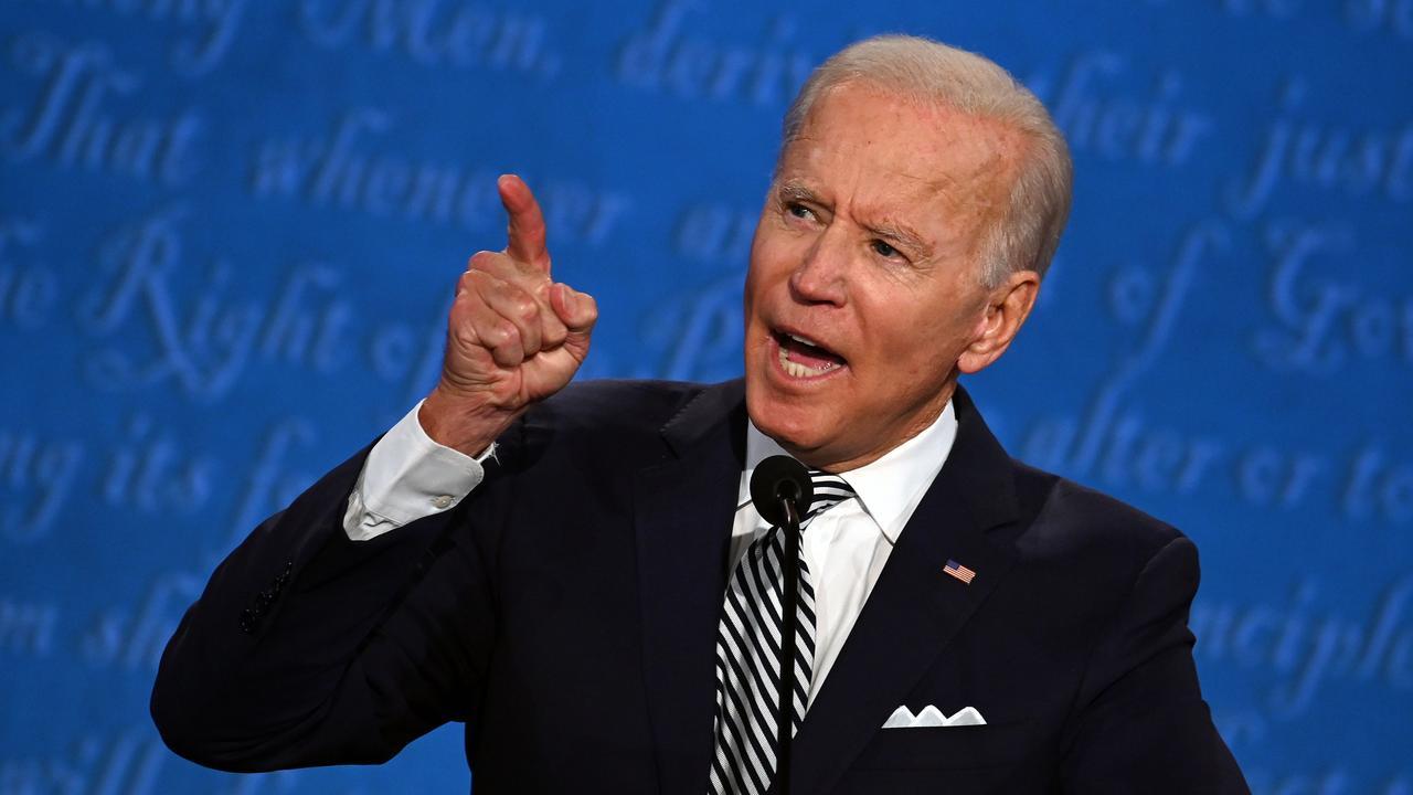Joe Biden said Donald Trump's behaviour was a 'national embarrassment'. Picture: Jim Watson/AFP
