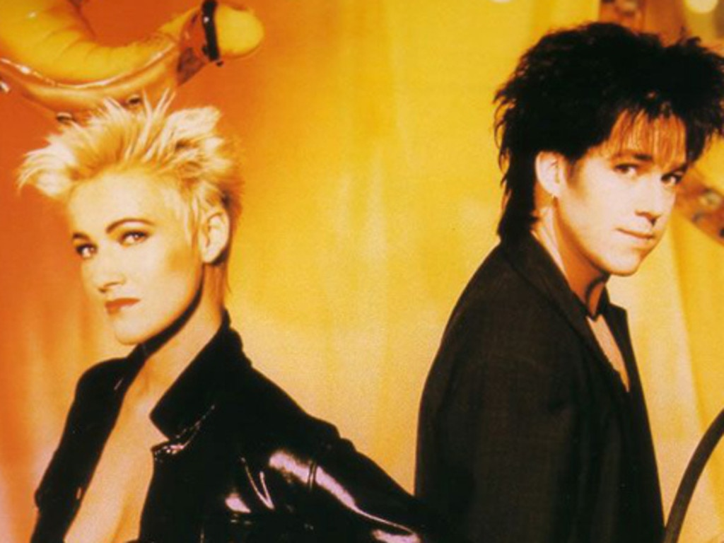 Roxette's Marie Fredriksson and Per Gessle during the band's heyday. Picture: Supplied