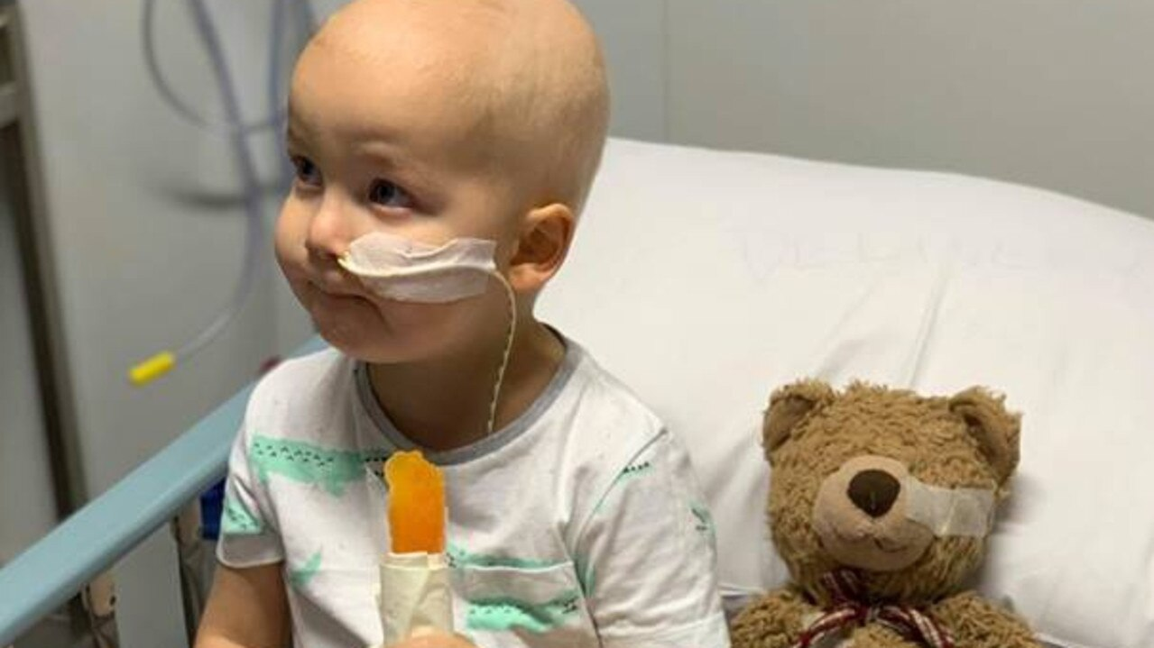 Alistair with his teddy bear during a hospital stay. Supplied: The West Movement