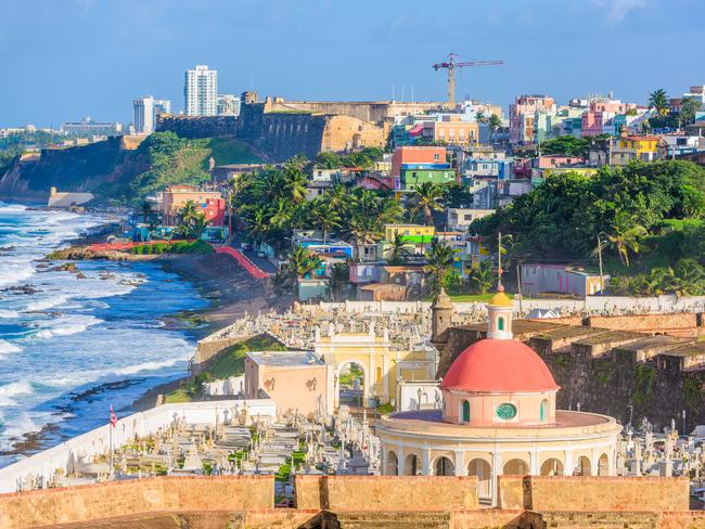8. SAN JUAN, PUERTO RICO Puerto Rico's capital San Juan combines the old world with the new. Its 'Isla Verde' (Green Island) resort strip caters to partygoer visitors with bars, nightclubs, and casinos — while the cobblestoned streets of Old San Juan are where you'll find colourful Spanish colonial buildings and historic landmarks including the fortresses of El Morro and La Fortaleza and the Paseo de la Princesa bayside promenade.