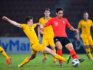 The Olyroos were outclassed by South Korea.