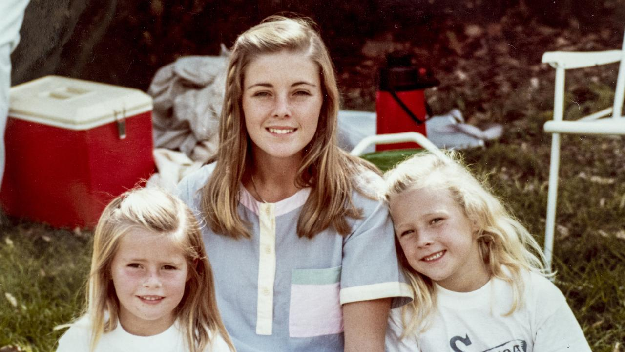 Joanne Curtis (centre) was a troubled teen before becoming babysitter to Chris Dawson's daughters Shanelle (right) and Sherryn.
