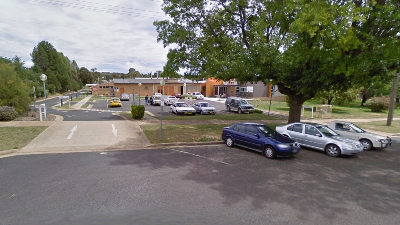 Brendon Toohey took the 11-month-old to Blayney Hospital (above) but the infant girl could not be revived.