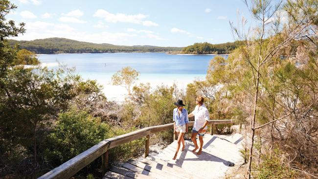 15/21Fraser Island Great Walk One of Queensland's best walks, this official Great Walk is a six-day hike that takes in Lake McKenzie, Central Station and subtropical rainforest coastline. Picture: Tourism and Events Queensland