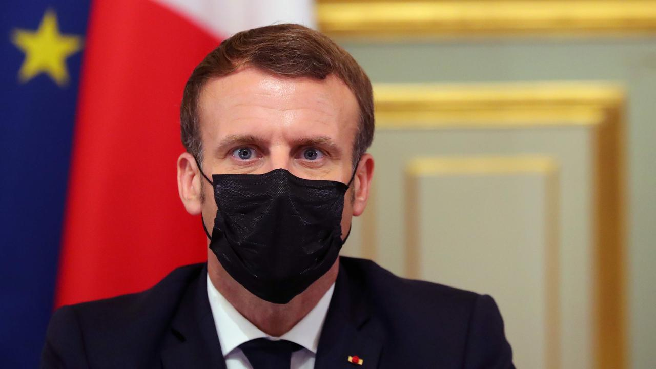 French President Emmanuel Macron said he won't back down on the country's right to free speech (Photo by Thibault Camus / AFP)