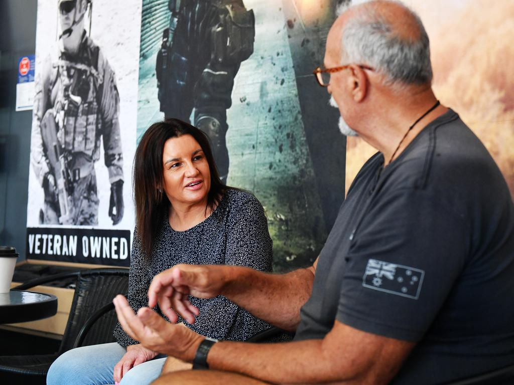 Senator Jacqui Lambie is known for her work with veterans. Picture: Alix Sweeney