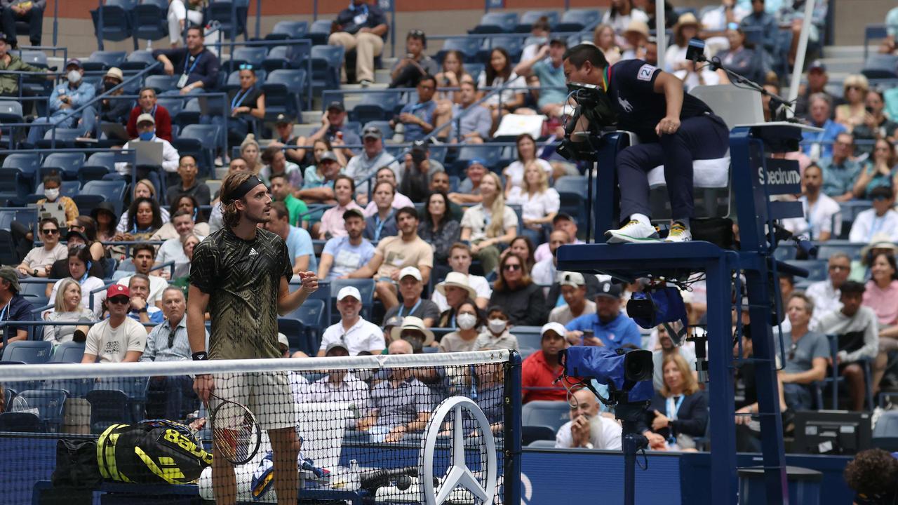 Novak Djokovic has defended Greek tennis player Stefanos Tsitsipas. Photo: Getty Images