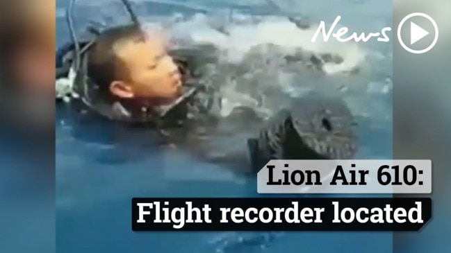 The flight recorder from crashed Lion Air jet 610 has been found