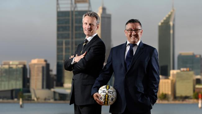 Football West's Liam Twigger (chairman) and Peter Hugg (chief executive)