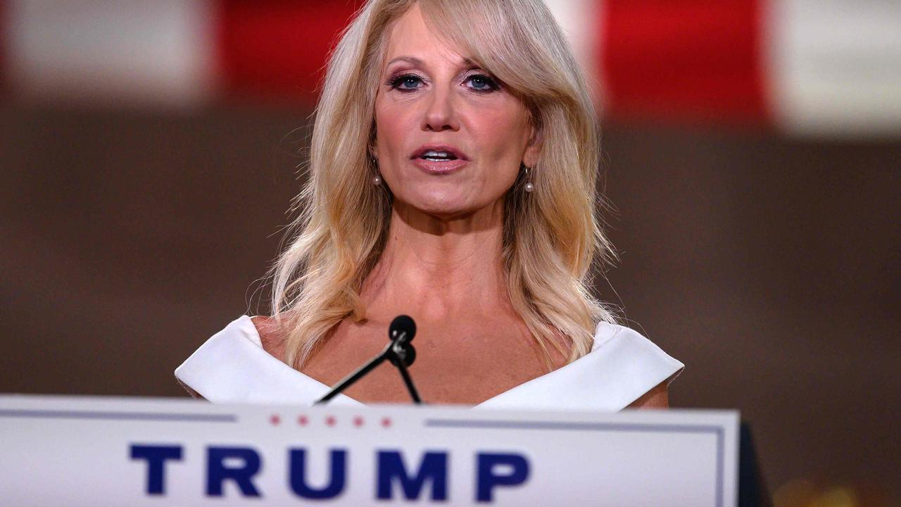 Kellyanne Conway at the Republican convention. Picture: Nicholas Kamm/AFP