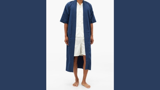 Cleverly Laundry Superfine-Cotton Sateen Robe