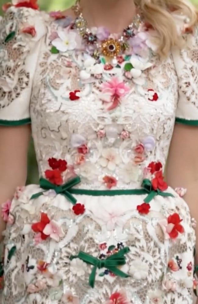 Kitty Spencer's final dress. Picture: dolcegabbana/Instagram