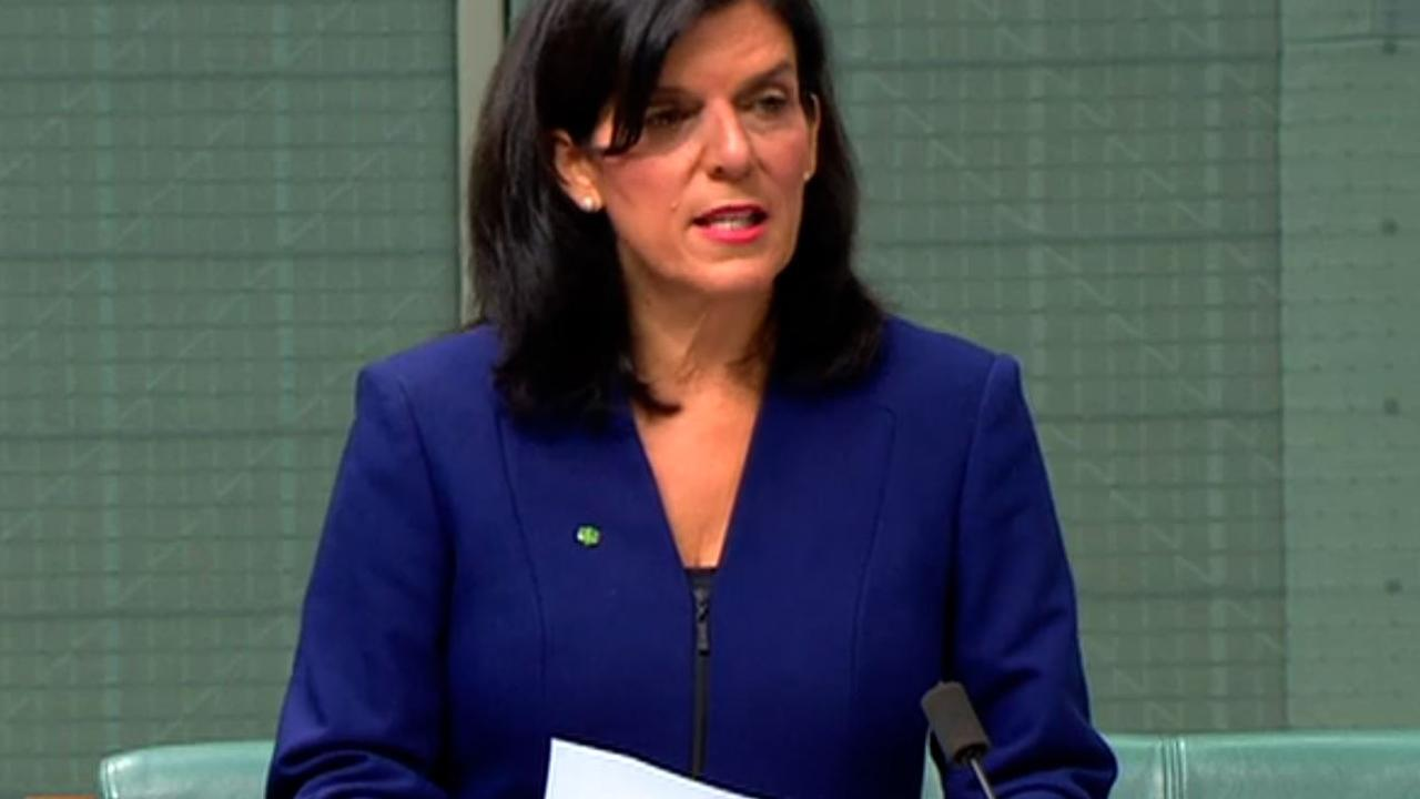 Julia Banks announcing her bombshell decision to quit the Liberals.