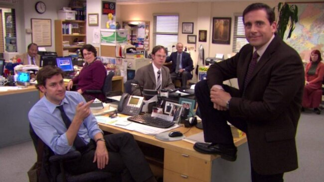 Oh Michael. Get your foot off the desk. Image: The Office.