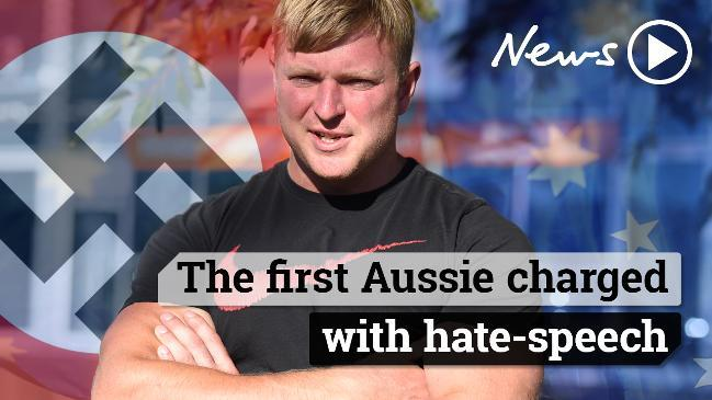 The first Aussie charged with hate speech