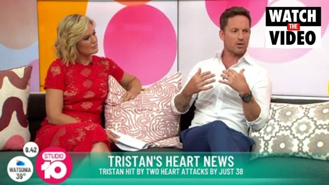 Tristan MacManus speaks about his heart attack (Studio 10)
