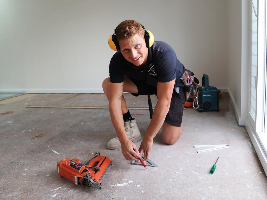 Builder Nathan Feller from Bondi said business has been booming since the COVID-19 epidemic. Picture Rohan Kelly.