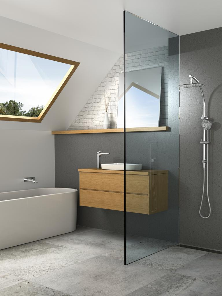 Choose a similar grout colour to your tiles for a blending effect.