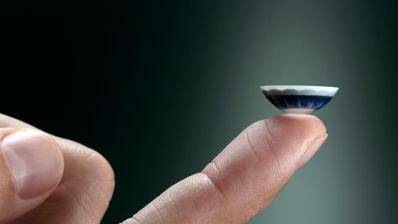 The smart contact lenses aren't ready for market at this stage. Picture: AFP
