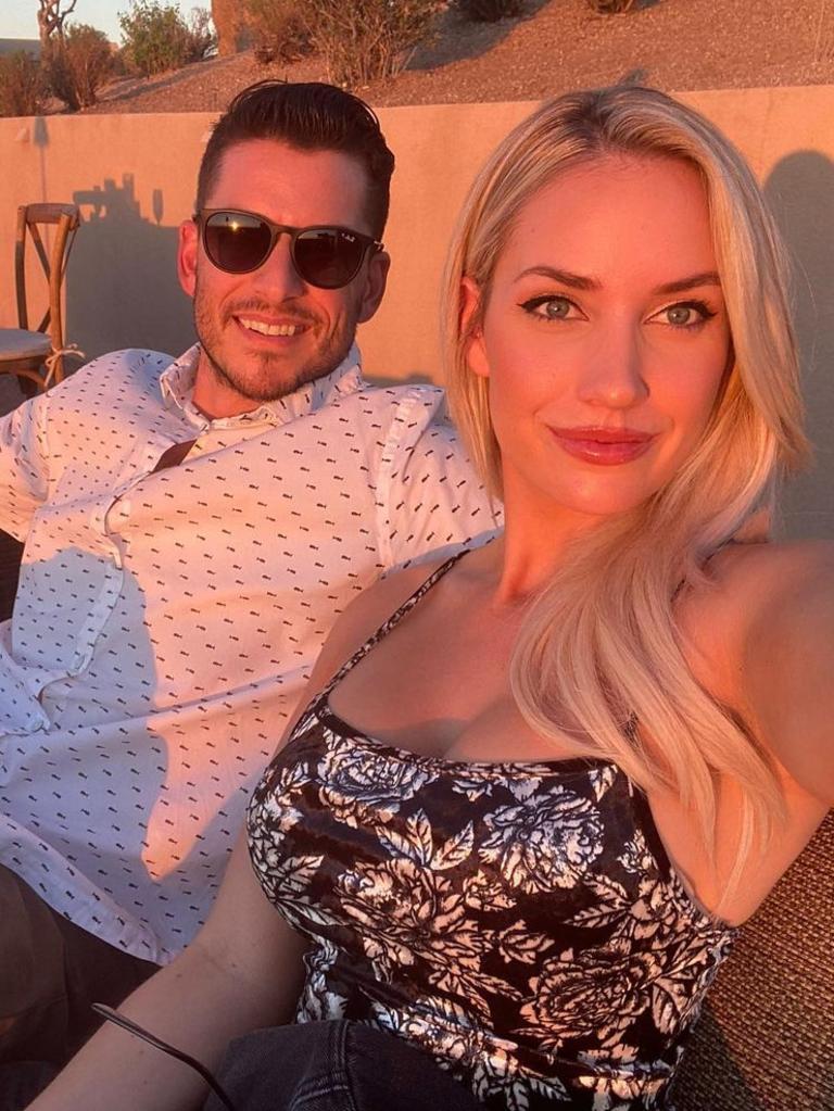Paige Spiranac with husband Steven Tinoco.