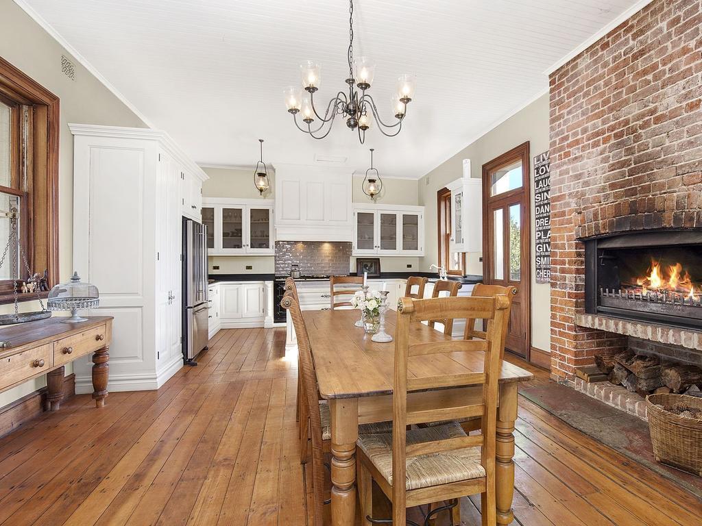 The kitchen has plenty of space.