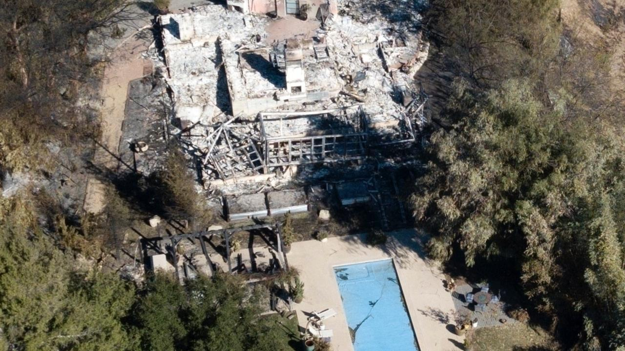An aerial view of the couple's property. Picture: Clint Brewer/Backgrid