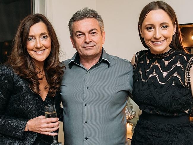 Karen Ristevski with her husband Borce Ristevski and daughter Sarah. Picture: Supplied