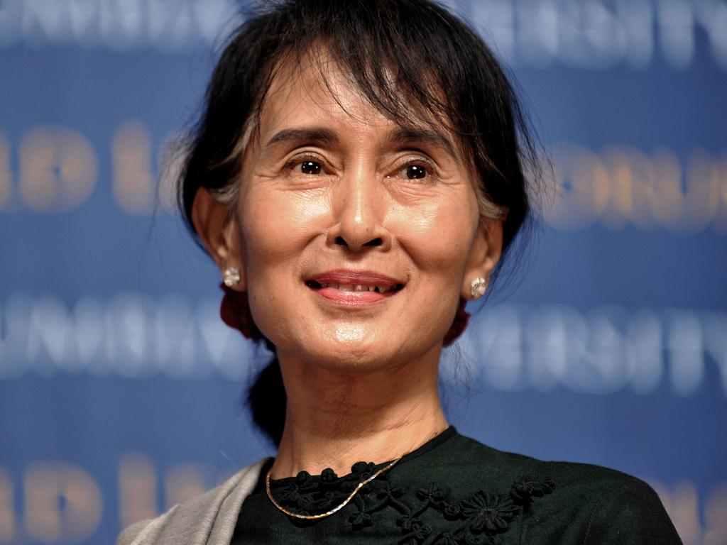 Aung San Suu Kyi was detained in a military coup on Monday. Picture: Stan Honda/AFP