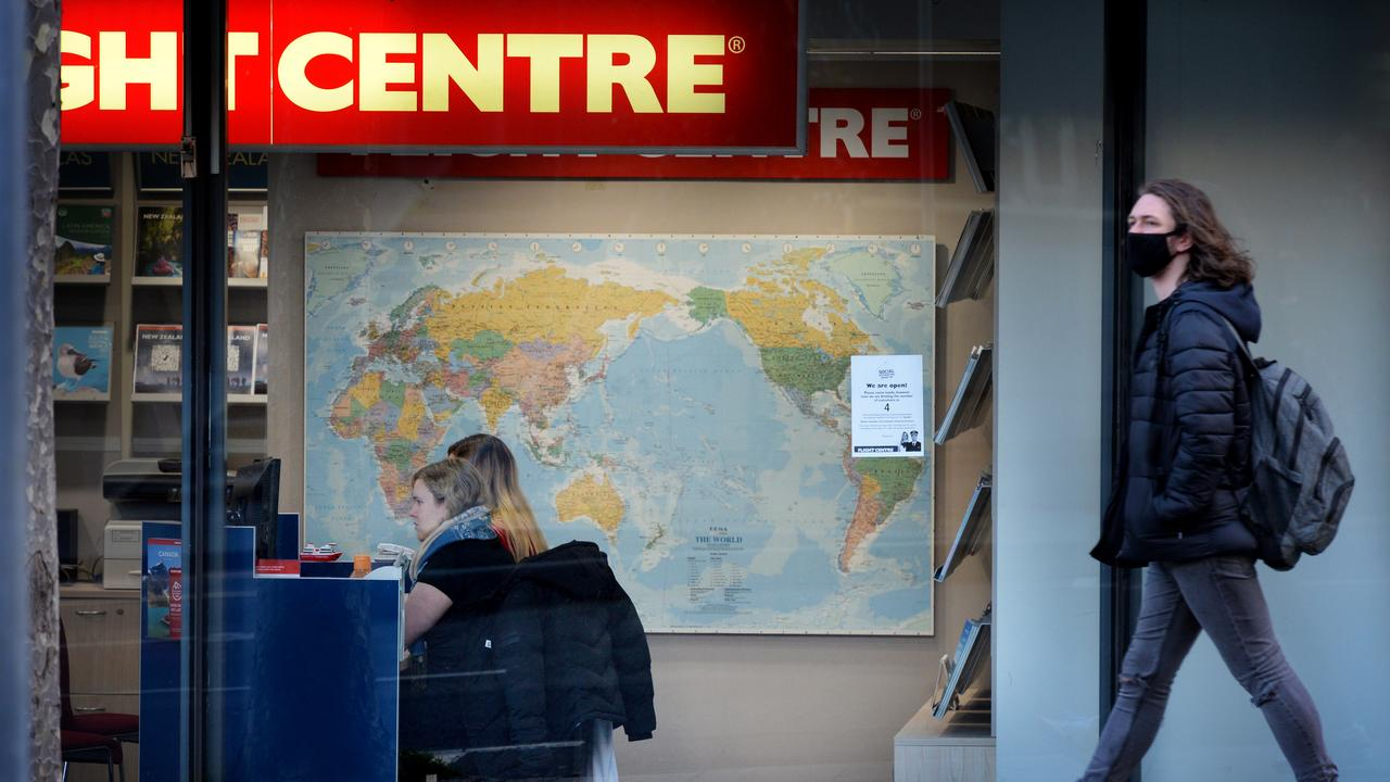 """Flight Centre says home quarantine will """"remove one of the major impediments to travel – customers' fears of being forced into expensive hotel quarantine"""". Picture: NCA NewsWire / Andrew Henshaw"""