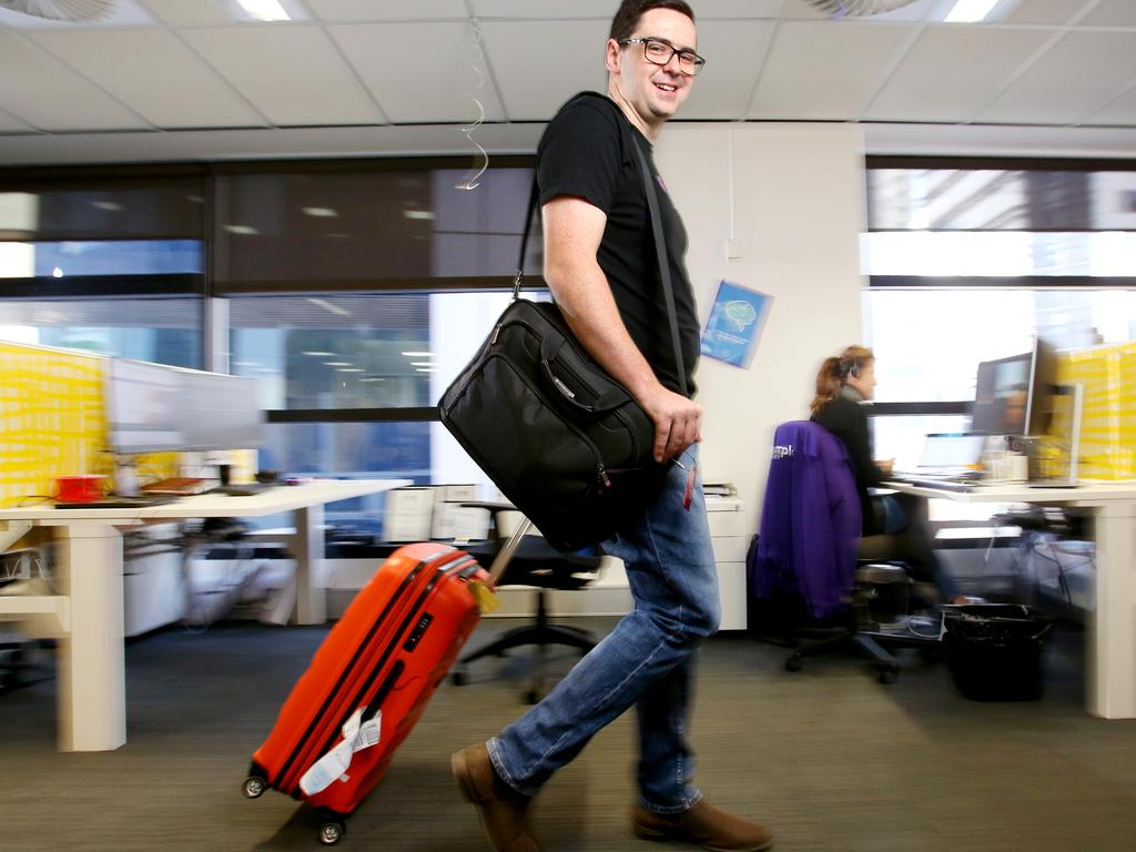 MYOB's Joseph Cooper has taken advantage of increased annual leave. Picture: AAP