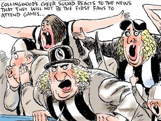 Mark Knight's collingwood fan cartoon