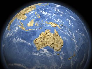 3D rendered model of the effects of extreme climate change on the earth. Centred on Australasia.Click below for related images from my portfolio: