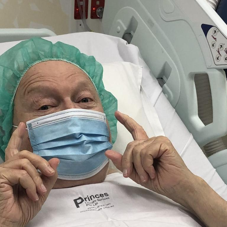 Patti shared this hospital update with fans last year.