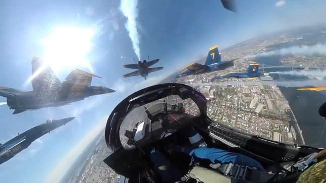 See Inside a Blue Angles Cockpit as US Navy Salutes Health Care Workers