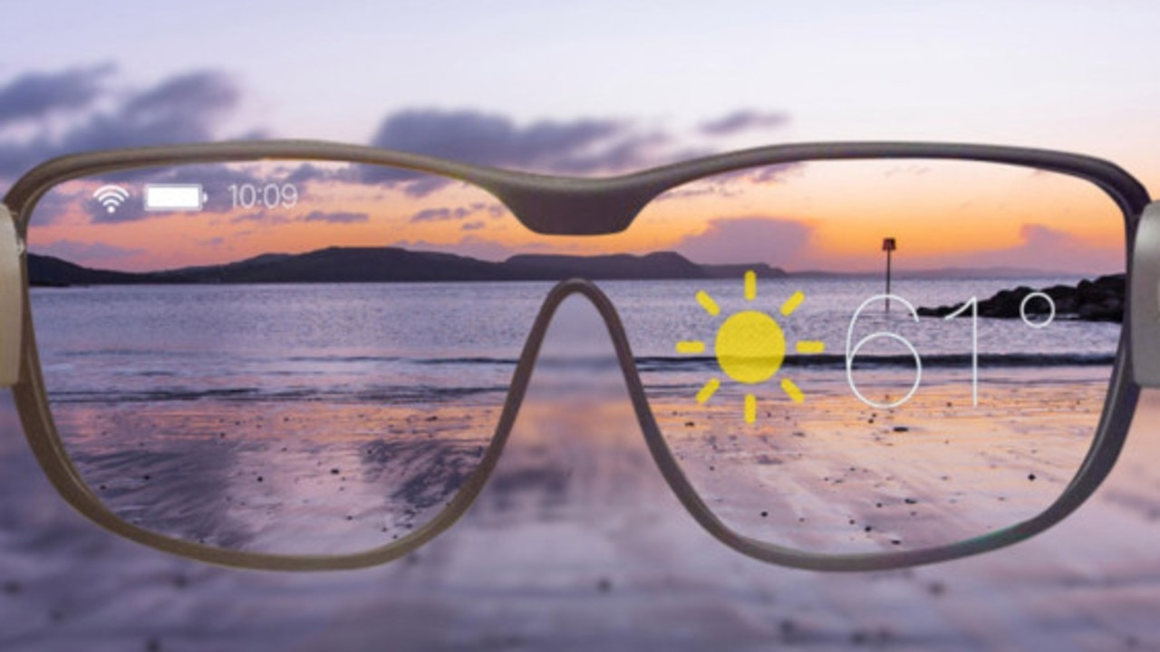 Apple is reportedly working on a pair of 'augmented reality 5G' glasses that look like normal spectacles. Picture: The Sun