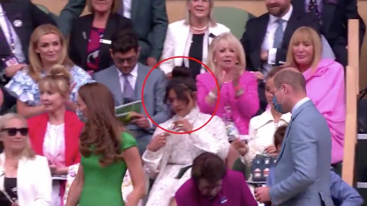 Priyanka Chopra appeared to ignore Kate and William as they took their seats at Wimbledon.