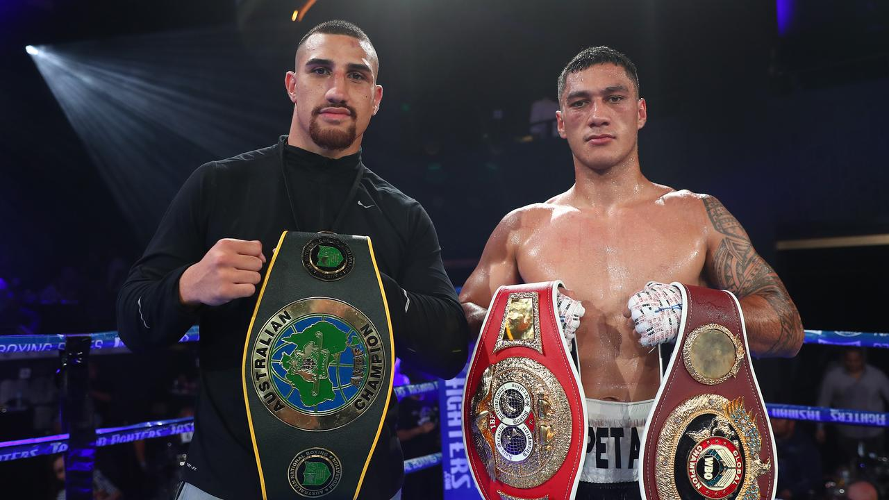Justis Huni and Jai Opetaia – could this be prophetic? Photo by Chris Hyde/Getty Images