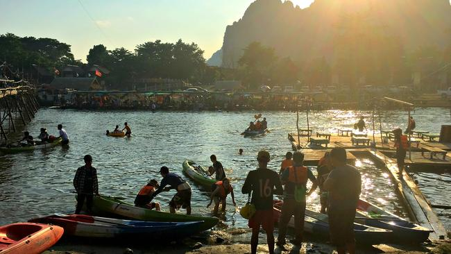 Vang Vieng, Asia's party drug paradise looks very different in 2017. Picture: Gavin Fernando