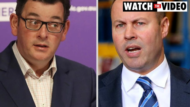 Andrews slams Treasurer: 'Frydenberg is playing politics and Victorians are sick of it'
