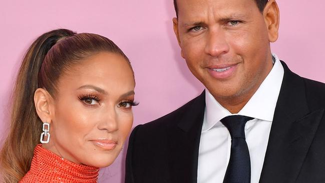 """(FILES) In this file photo taken on June 3, 2019 CFDA Fashion Icon Award recipient US singer Jennifer Lopez and fiance former baseball pro Alex Rodriguez arrive for the 2019 CFDA fashion awards at the Brooklyn Museum in New York City. - Singer Jennifer Lopez and former New York Yankees baseball star Alex Rodriguez said Saturday, March 13, they were """"working through some things"""", but called reports they had broken up """"inaccurate"""". (Photo by ANGELA WEISS / AFP)"""