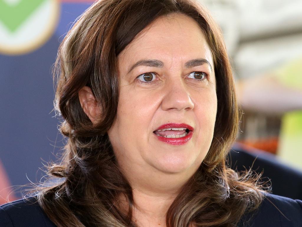BRISBANE, AUSTRALIA - NewsWire Photos OCTOBER 22, 2021: Queensland Premier Annastacia Palaszczuk speaks at Marsden State High School, south of Brisbane. Picture: NCA NewsWire / Jono Searle