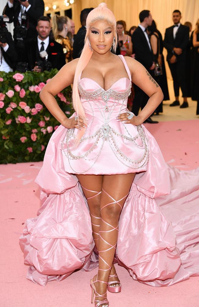 Nicki Minaj at the 2019 Met Gala. Picture: Dimitrios Kambouris/Getty Images for The Met Museum/Vogue