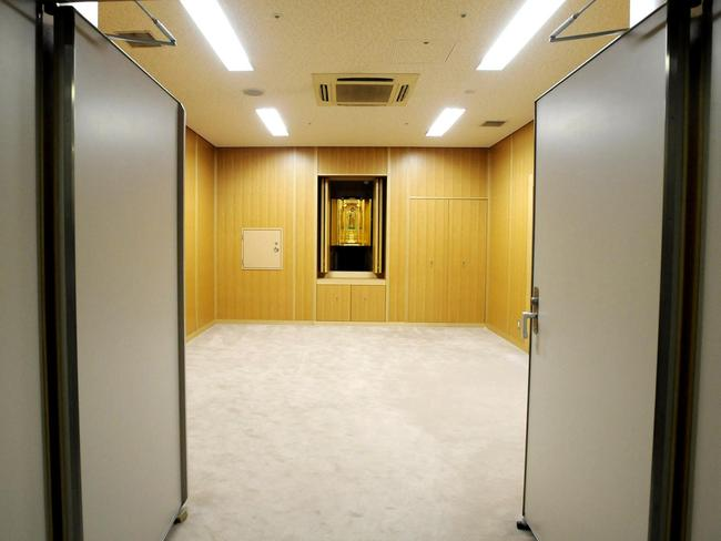 At first glance you might mistake the rooms inside the Tokyo detention house for a hotel conference centre. Picture: AFP/JIJI PRESS