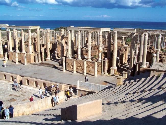 Ruins of Leptis Magna in Libya.